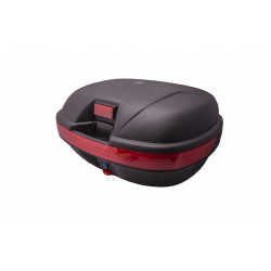 Kufer na kaski monokey BT800, 43 l., czarny, czerwony odblask