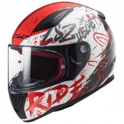 KASK INTEGRALNY LS2 FF353 RAPID NAUGHTY WHITE RED