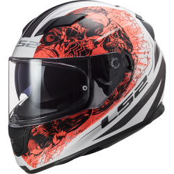 KASK INTEGRALNY LS2 FF320 STREAM EVO THRONE WHITE ORANGE