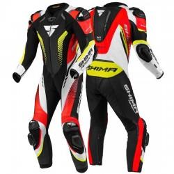 Kombinezon jednoczęściowy męski SHIMA APEX RS czarno-czerwony