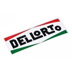 Naklejka logo DELLORTO 120X40mm
