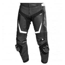 SECA SRS BLACK-WHITE męskie skórzane sportowe spodnie motocyklowe
