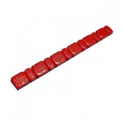 Odważniki ciężarki motocyklowe samoprzylepne stalowe 6x2,5g i 6x5,0g czerwone