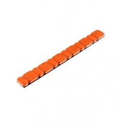 Odważniki ciężarki motocyklowe samoprzylepne stalowe 6x2,5g i 6x5,0g pomarańczowe