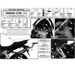 Kappa stelaż kufra centralnego KAWASAKI Z 750S 05-07