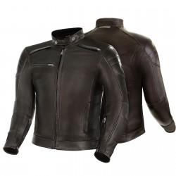 SHIMA BLAKE BROWN skórzana męska kurtka motocyklowa