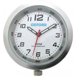 Analogowy zegarek motocyklowy na kierownice Oxford SREBRNY