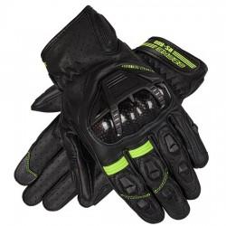 Sportowe męskie rękawice motocyklowe krótkie OZONE RS600 fluo