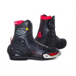 OZONE URBAN II BLACK RED krótkie sportowe męskie buty motocyklowe