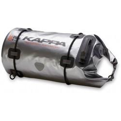 Wodoodporna torba podróżna wałek motocyklowy rolka na tył motocykla KAPPA 30 l SILVER